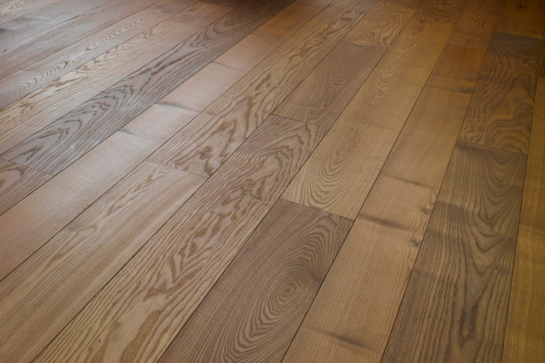 Parquet French wood flooring Thermo treated ASH