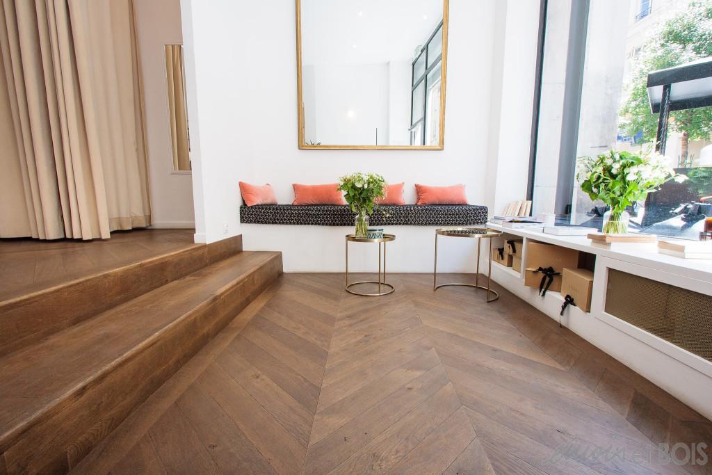 projet boutique s zane parquet caladan en ch ne massif. Black Bedroom Furniture Sets. Home Design Ideas